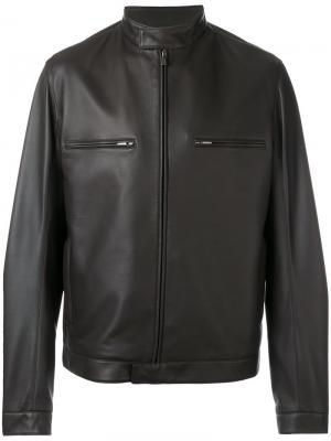 Байкерская куртка Loro Piana. Цвет: коричневый