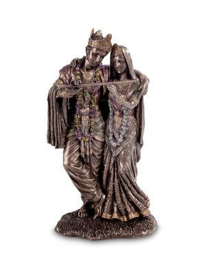 Статуэтка Кришна и Радха Veronese. Цвет: бронзовый