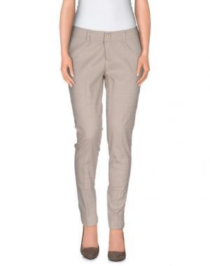 Повседневные брюки TRY ME. Цвет: светло-серый
