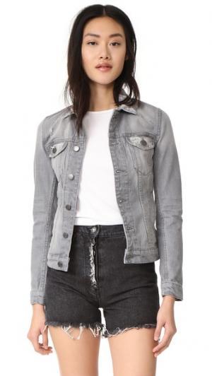 Узкий пиджак из денима BLK DNM. Цвет: серо-медный
