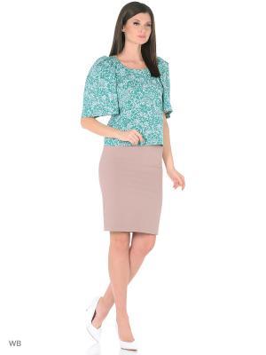 Блузка BERTEN. Цвет: зеленый