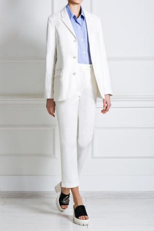 Хлопковые брюки Title A. Цвет: белый