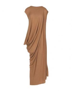 Длинное платье RICK OWENS LILIES. Цвет: верблюжий