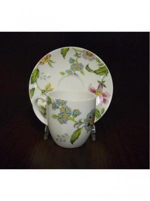 Н-р 6 кофейных пар 100мл Прованс Royal Porcelain. Цвет: молочный