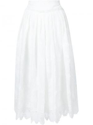 Фактурная юбка Derek Lam 10 Crosby. Цвет: белый