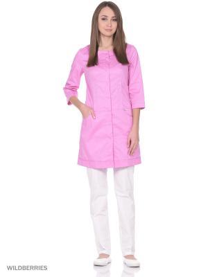 Халат MediS. Цвет: розовый