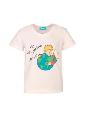 Футболка Маленький Принц с Земным Шаром. Цвет: светло-бежевый