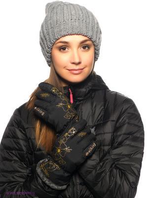 Перчатки Viking caps&gloves. Цвет: черный