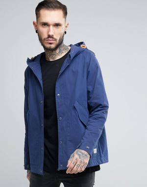 Penfield Темно-синяя куртка с капюшоном Davenport. Цвет: темно-синий