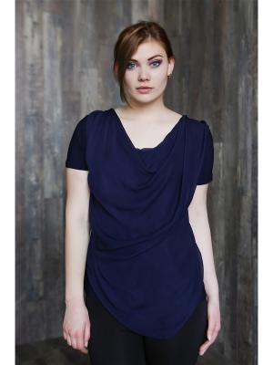 Блузка VIVO. Цвет: темно-синий