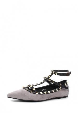 Туфли Coco Perla. Цвет: серый