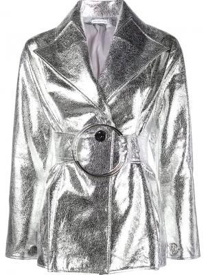 Куртка с эффектом металлик Rejina Pyo. Цвет: металлический