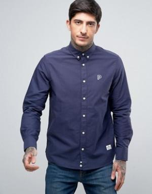 Penfield Темно-синяя оксфордская рубашка классического кроя на пуговицах Penfie. Цвет: темно-синий