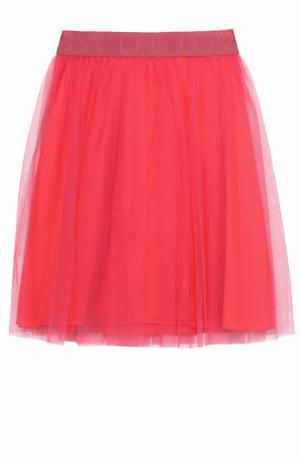 Пышная юбка-миди с эластичным поясом Deha. Цвет: розовый