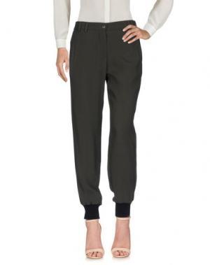 Повседневные брюки I'M ISOLA MARRAS. Цвет: темно-зеленый