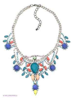 Колье Royal Diamond. Цвет: голубой, серебристый, розовый, синий