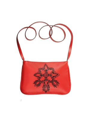 Женская сумка Кажан. Цвет: красный