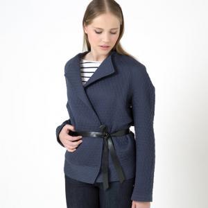 Жакет-кимоно Incrédule с поясом из искусственной кожи BY ZOE. Цвет: синий