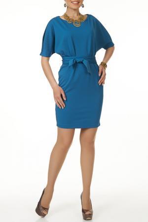 Платье с ремнем Argent. Цвет: голубой