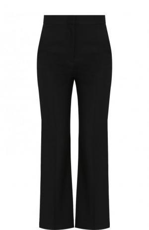 Укороченные расклешенные брюки из шерсти Stella McCartney. Цвет: черный