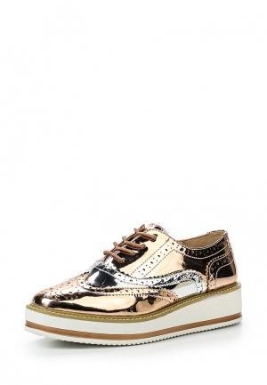 Ботинки XTI. Цвет: золотой
