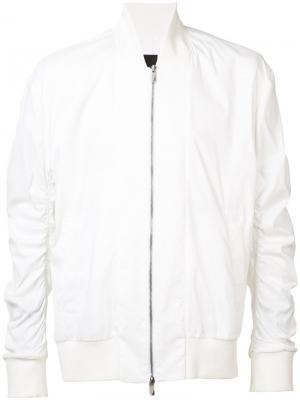 Куртка-бомбер с присборенными рукавами D.Gnak. Цвет: белый