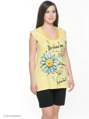 Пижама PELICAN. Цвет: черный, желтый