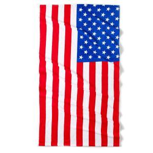 Полотенце пляжное Flag USA La Redoute Interieurs. Цвет: синий/ белый/ красный