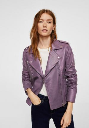 Куртка Mango. Цвет: фиолетовый