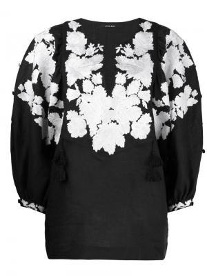 Топ-туника с вышивкой Vita Kin. Цвет: чёрный