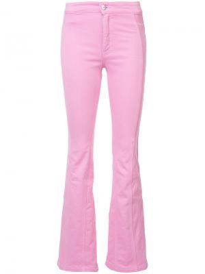 Расклешенные джинсы Givenchy. Цвет: розовый и фиолетовый