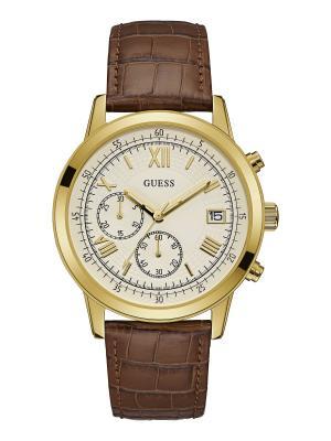 Часы GUESS. Цвет: коричневый, золотистый