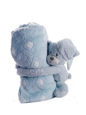 Плед с игрушкой Русские подарки. Цвет: голубой