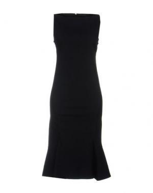 Платье до колена DONNA KARAN. Цвет: темно-синий