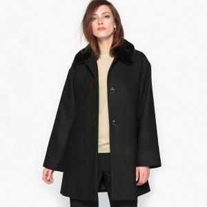 Пальто ANNE WEYBURN. Цвет: серо-коричневый,черный