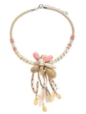 Колье Infiniti. Цвет: белый, бежевый, розовый