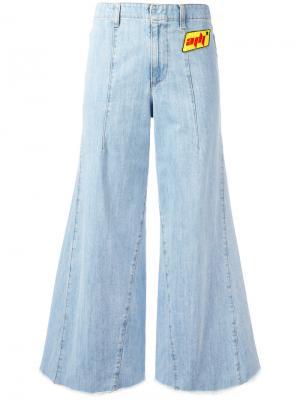 Широкие джинсы Au Jour Le. Цвет: синий