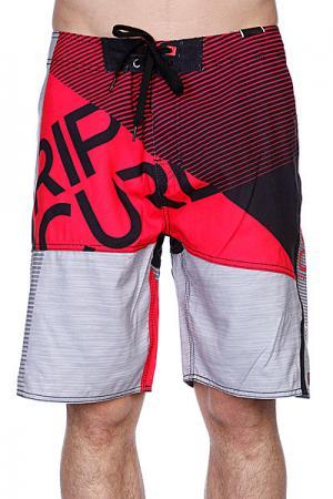 Пляжные мужские шорты  Nexus Grey/Pink Rip Curl. Цвет: черный,серый,красный