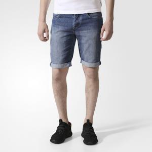 Джинсовые шорты LIGHT DNM  Originals adidas. Цвет: серый
