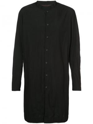 Удлиненная рубашка свободного кроя Ziggy Chen. Цвет: чёрный