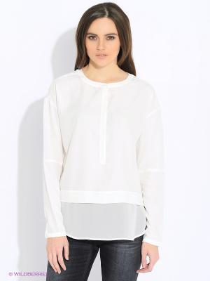 Блузка Calvin Klein. Цвет: белый