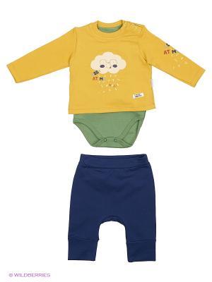 Костюм для малышей WO&GO. Цвет: горчичный, темно-синий, оливковый