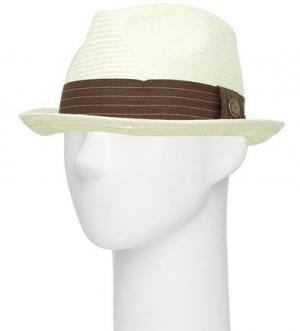 Плетеная шляпа молочного цвета с лентой Goorin Bros.. Цвет: белый