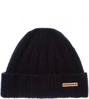 Синяя шерстяная шапка CANADIAN. Цвет: синий