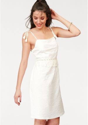 Платье Aniston. Цвет: белый