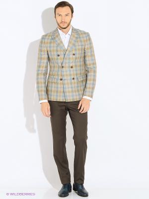Пиджак MONDIGO. Цвет: серый, голубой, бежевый