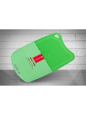 Доска Samura FUSION термопластиковая с антибактериальным покрытием, 380х250х2 (зеленая). Цвет: зеленый