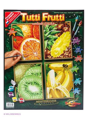 4 картины, Тропические фрукты Schipper. Цвет: салатовый, желтый, оранжевый