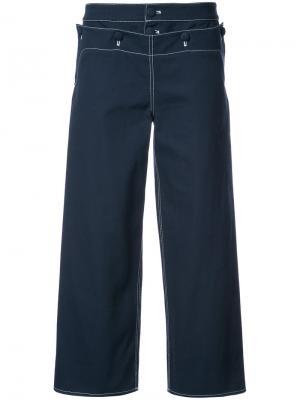 Укороченные брюки Sailor Harvey Faircloth. Цвет: синий