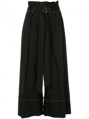 Укороченные широкие  брюки Kitx. Цвет: чёрный